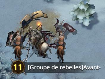 Atttaque contre groupe rebelle niveau 11