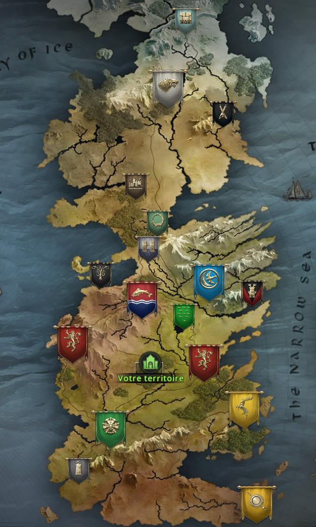Carte du continent