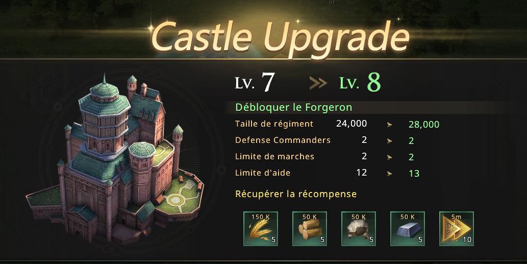 Château niveau 8