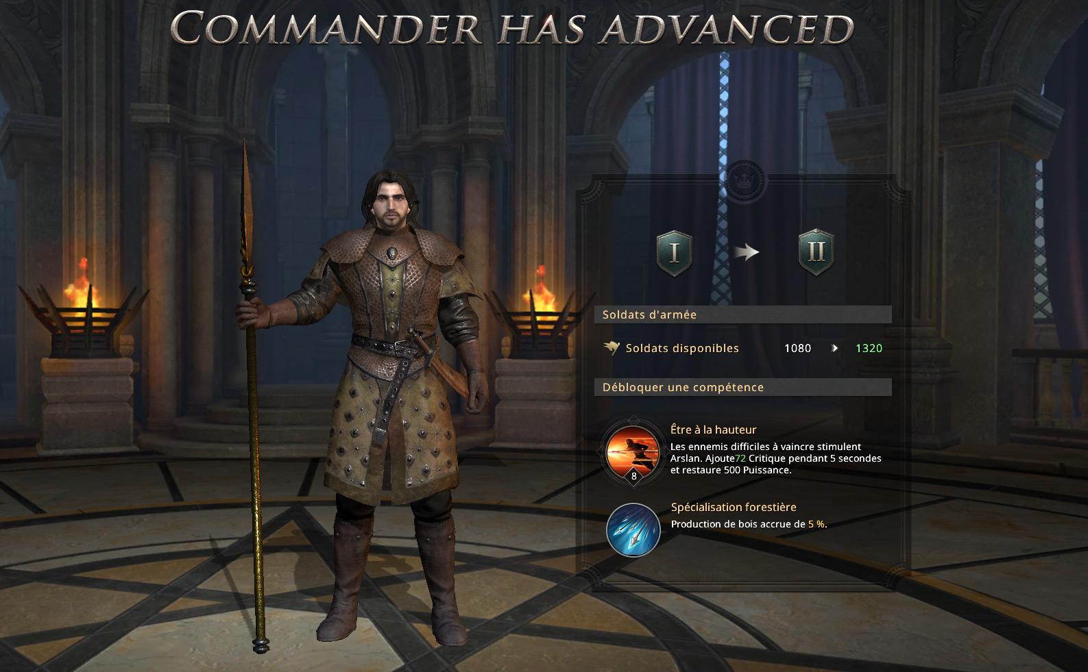 Commandant Arslan promu au rang II