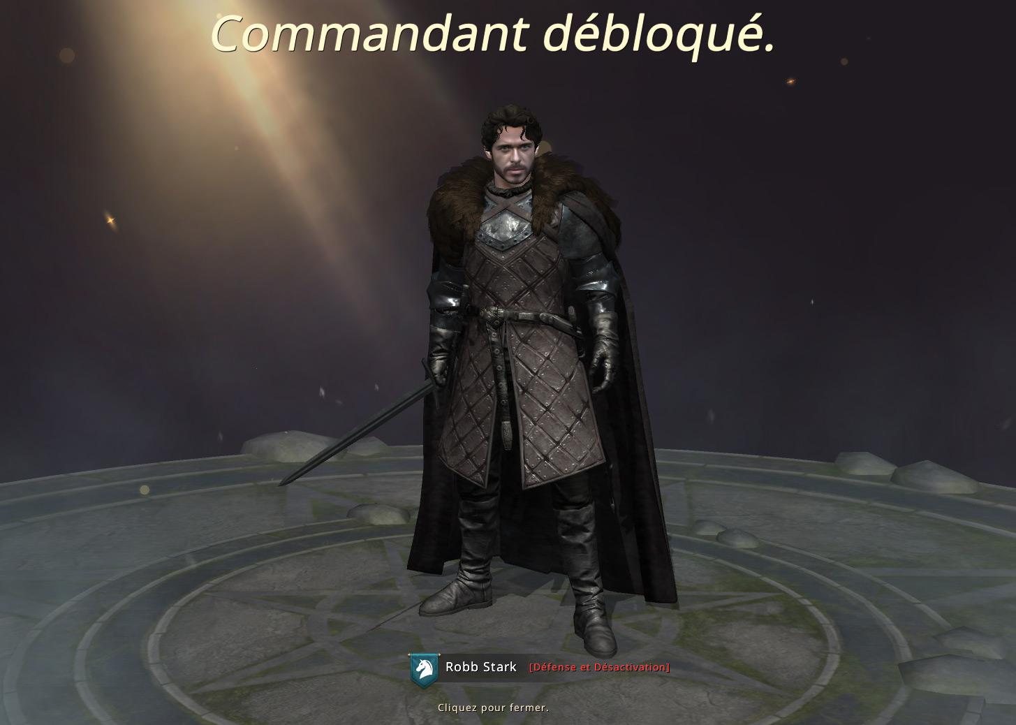 Robb Stark rejoint nos rangs