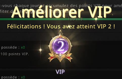 Niveau VIP 2 atteint