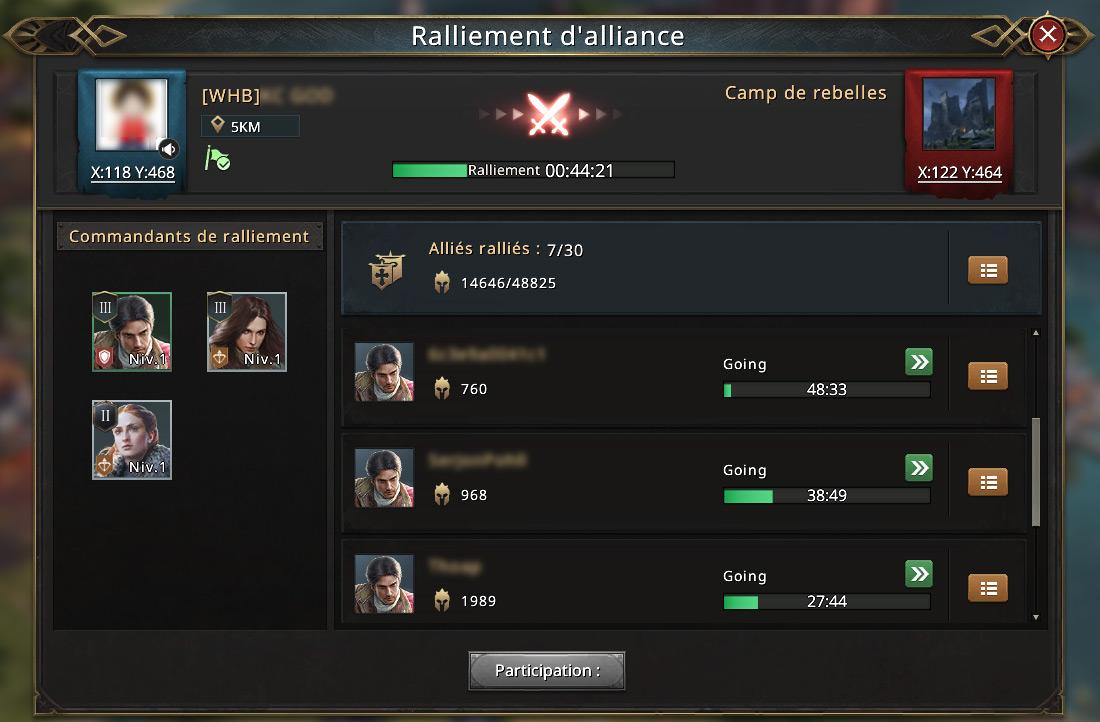Ralliement d'alliance