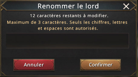 Renommer le lord