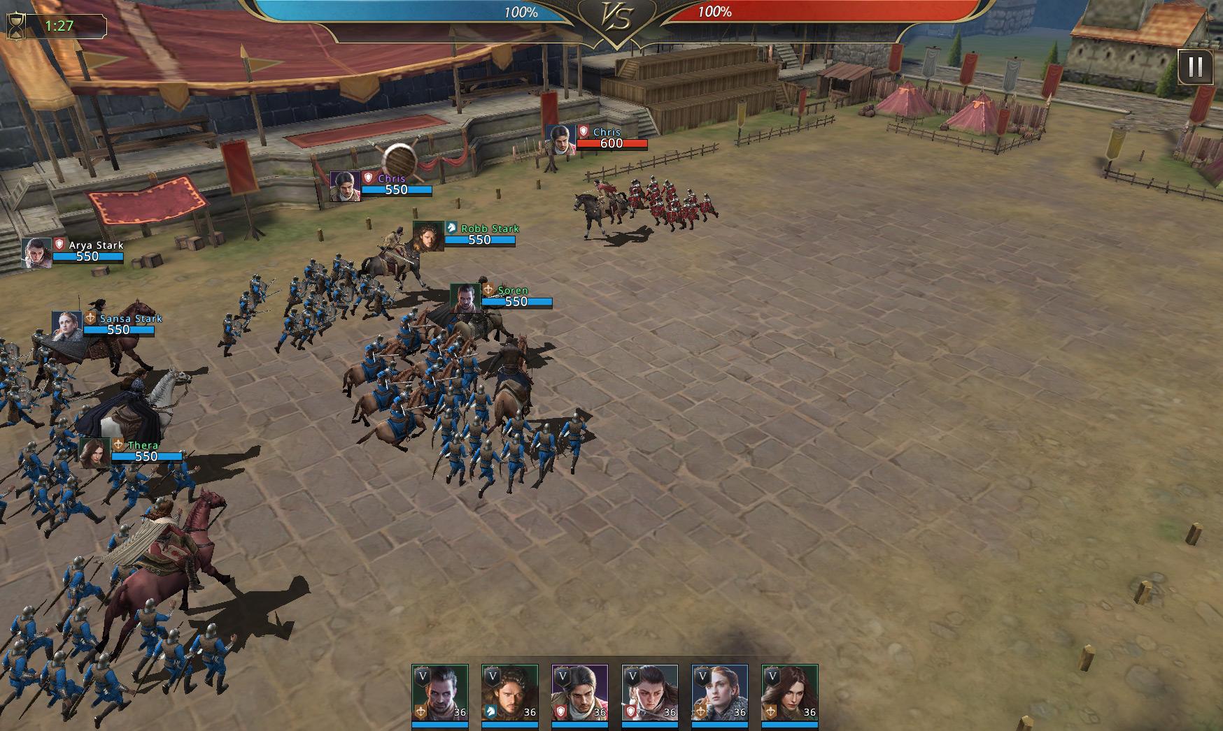 Combat contre un seul commandant