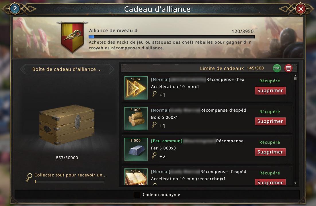 Alliance niveau 4