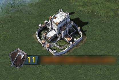 Château niveau 11 sur la carte