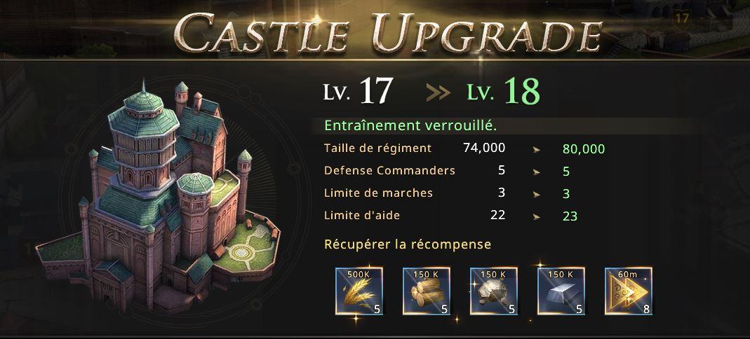 Château niveau 18