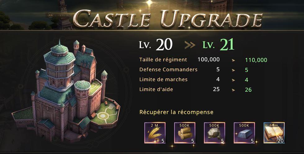 Château niveau 21