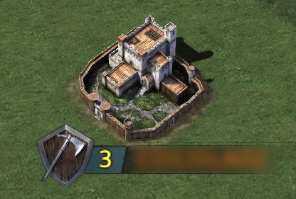 Château de niveau 3 sur la carte