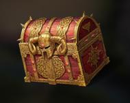 Coffre d'or du vainqueur au jeu de pouvoir