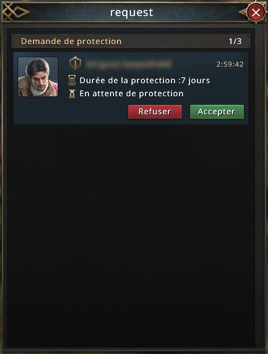 Demande de protection
