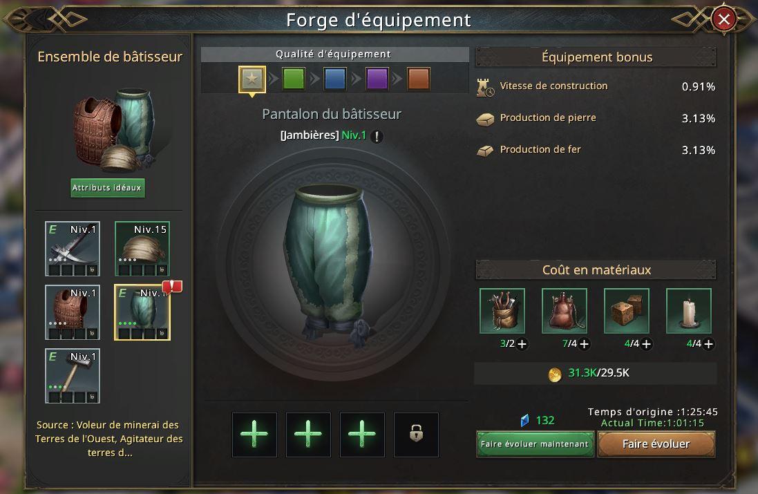 Evolution du pantalon de bâtisseur