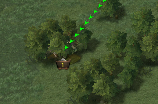 Ferme bien cachée dans les arbres
