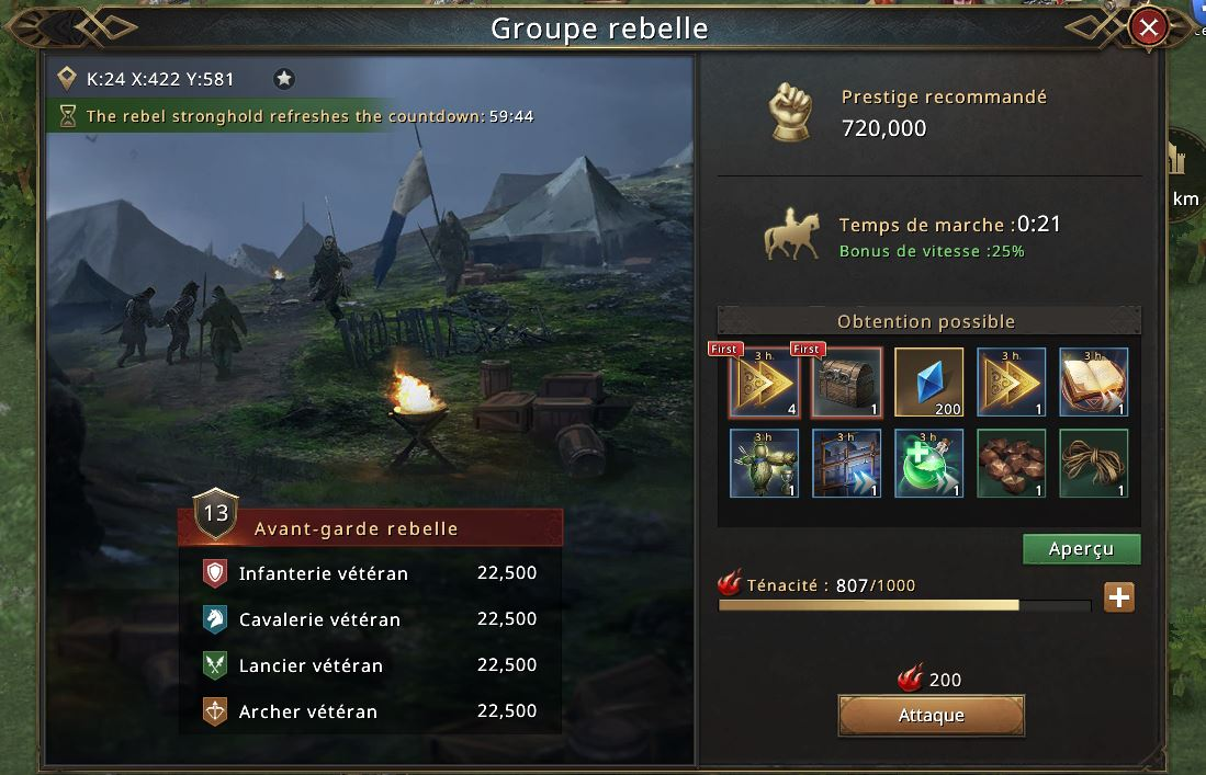 Groupe rebelle niveau 13
