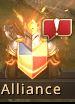 Flamboiement de l'icône alliance, signe de ralliement