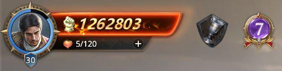Lord niveau 30, bientôt 31 avec 1262803 de prestige