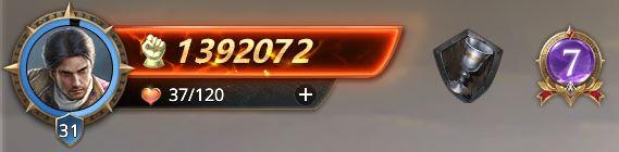 Lord niveau 31, presque 32 avec 1392072 points de prestige