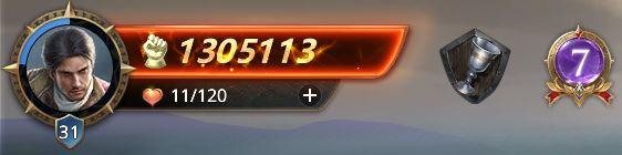 Lord niveau 31 avec 1305113 de prestige