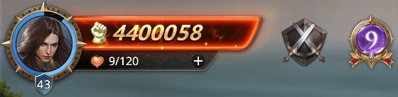 Lord niveau 43 avec 4400058 points de prestige