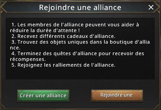 Rejoindre une alliance
