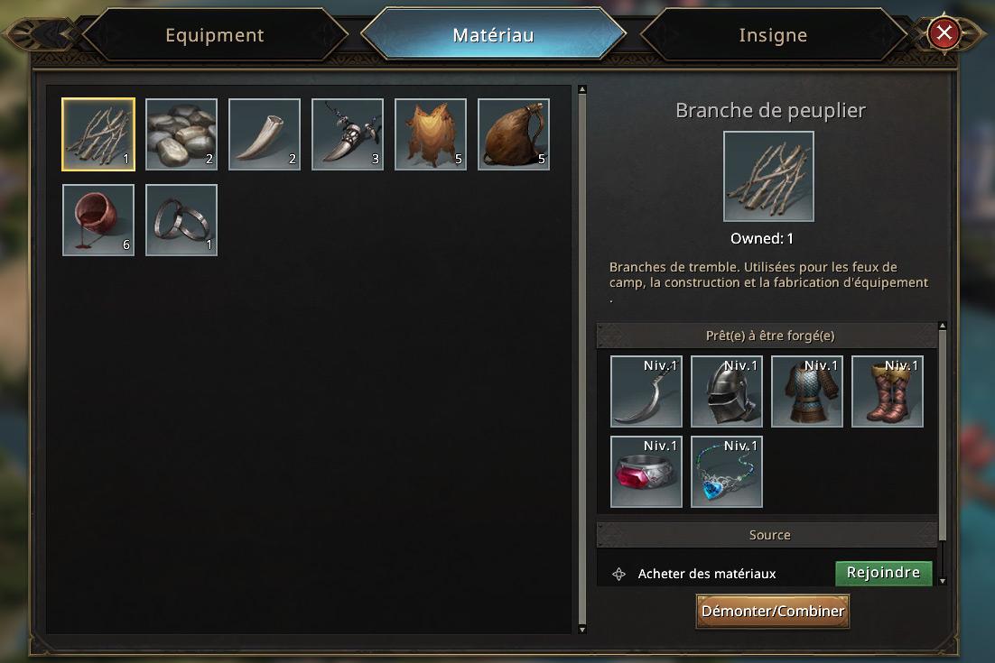 Matériaux pour le forgeron