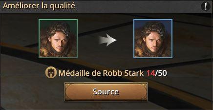 14 médailles de Robb
