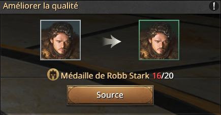 Médailles pour Robb Stark