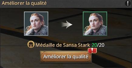 Médailles de Sansa Stark