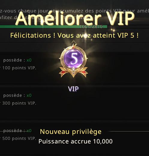 Niveau VIP 5