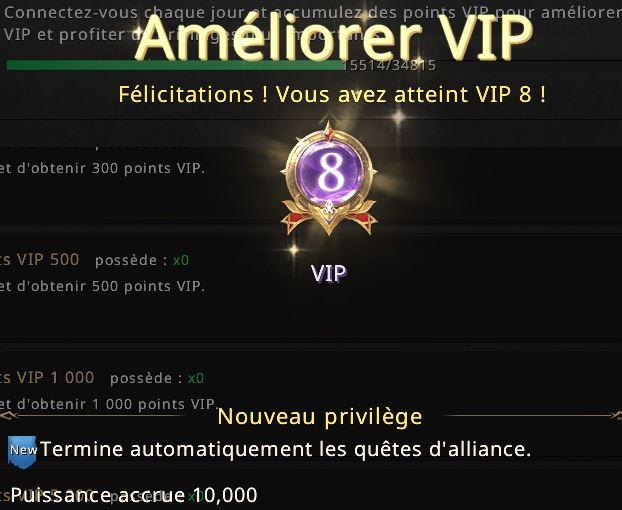 Niveau VIP 8