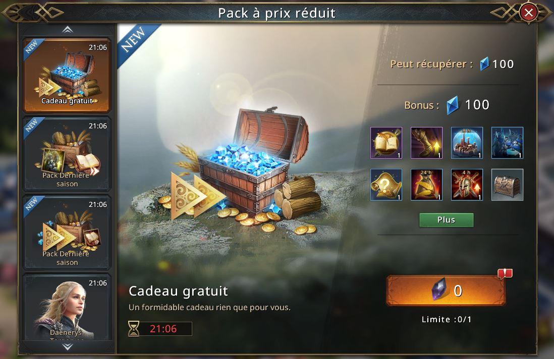 2e pack gratuit