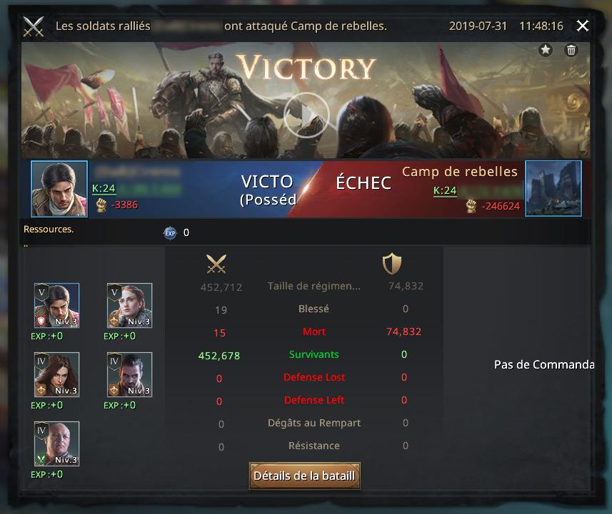 Rapport de l'attaque