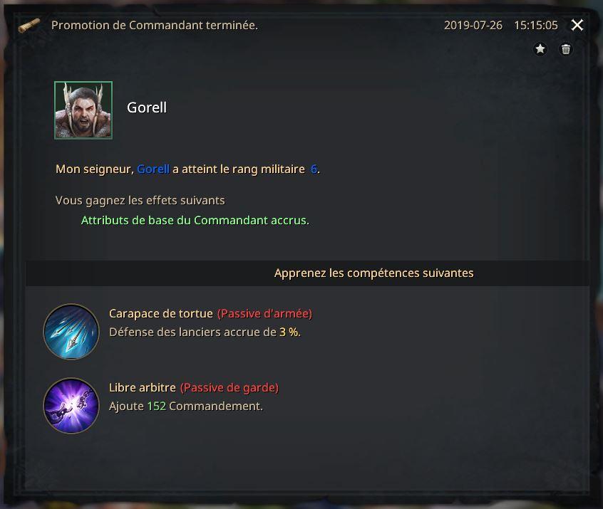 Rapport de promotion de Gorell