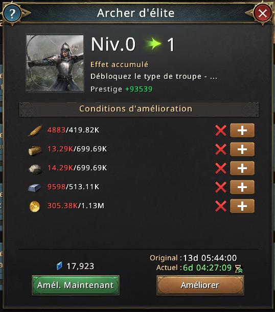 Recherche archer d'élite