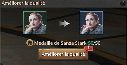 Sansa vers cadre bleu