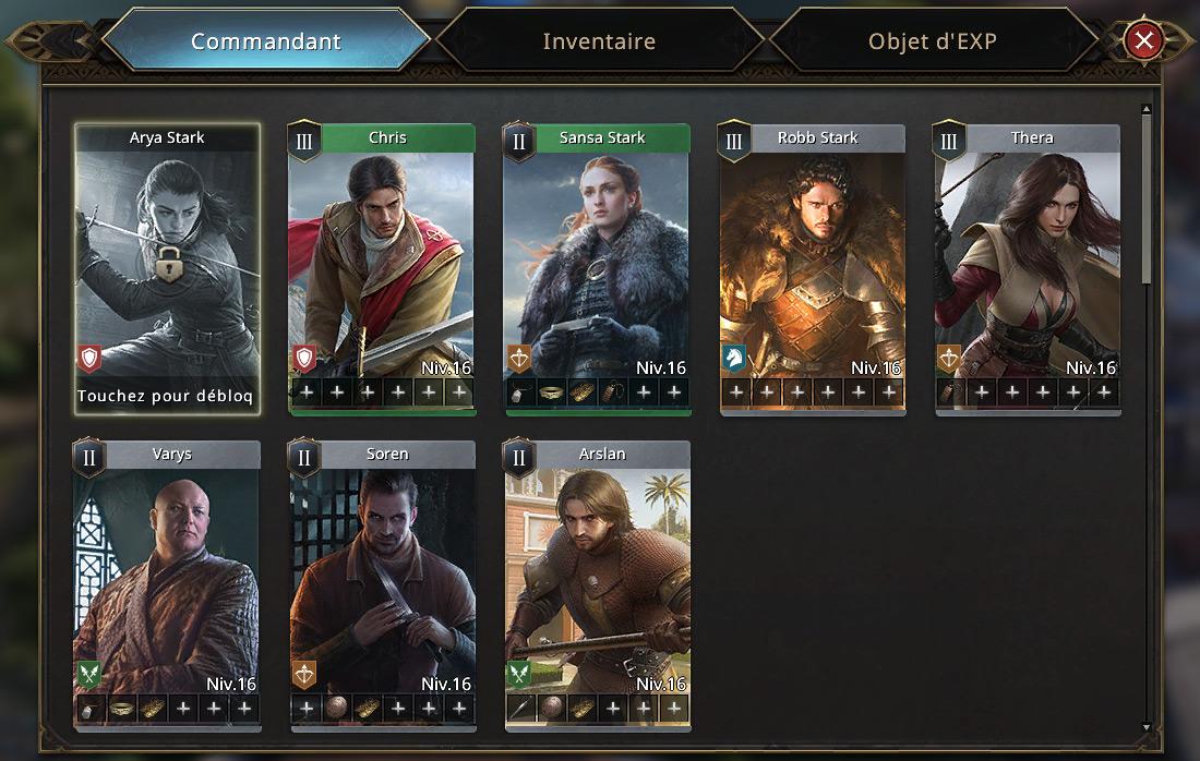Nouveau commandant Arya