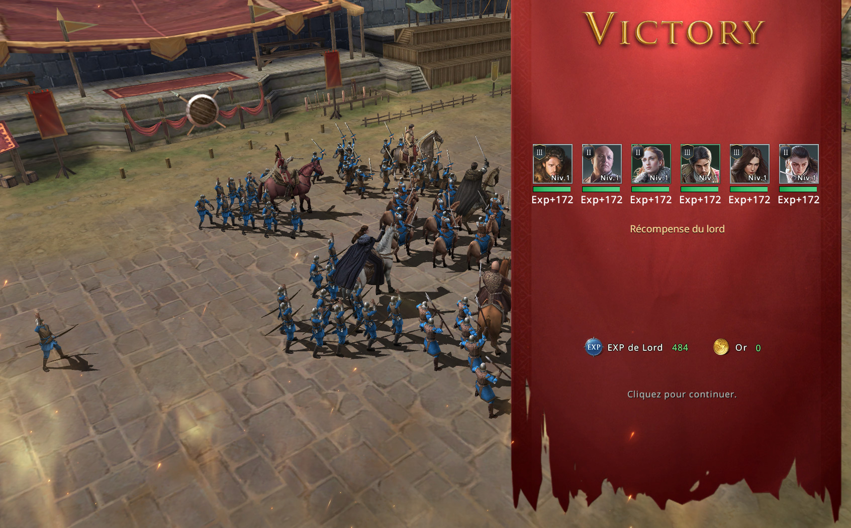 Victoire sur le terrain
