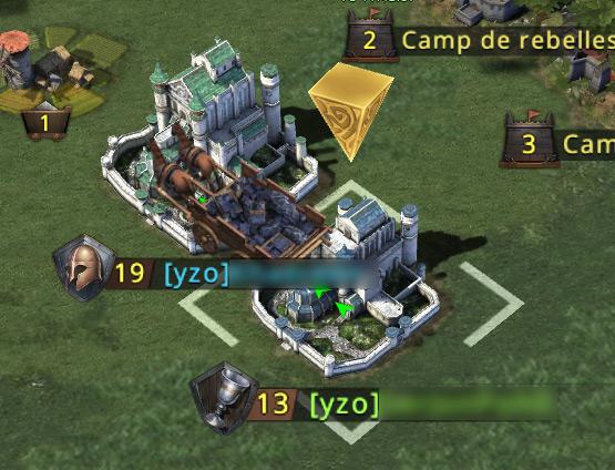Transfert des ressources entre les deux châteaux