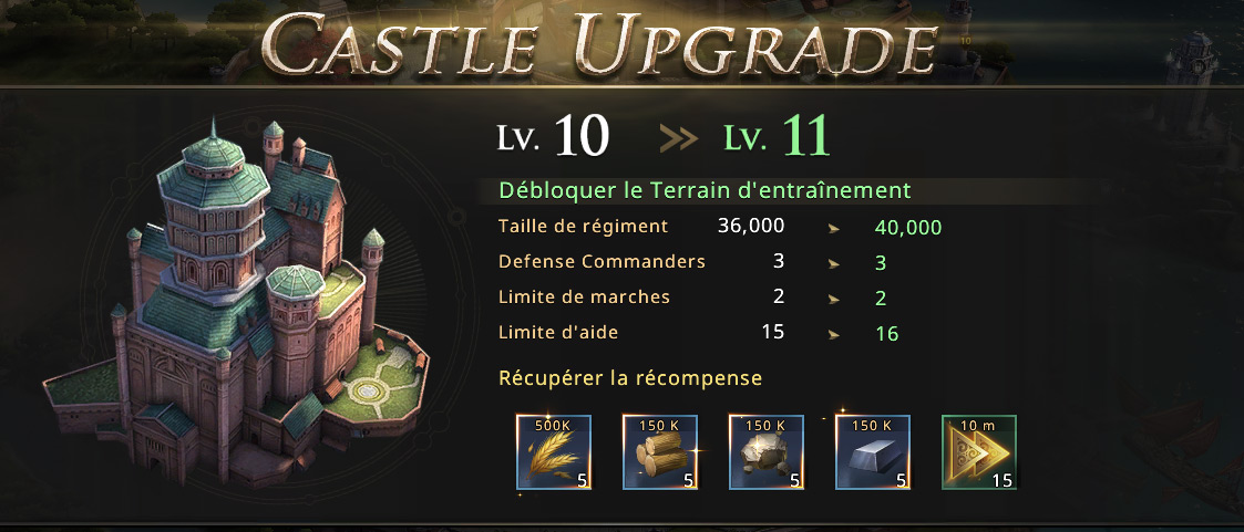 Château niveau 11