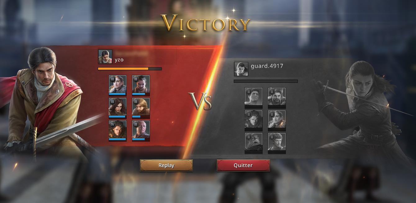 Victoire au défi rapide