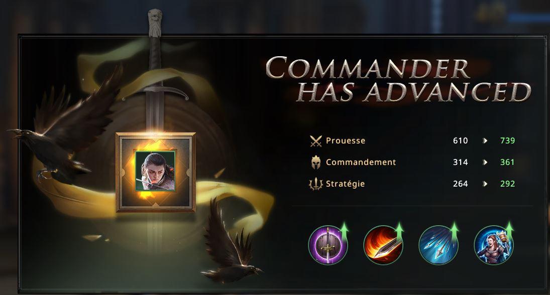 Atra commandant à 2 étoiles