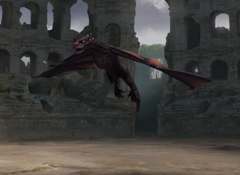Envol du bébé dragon