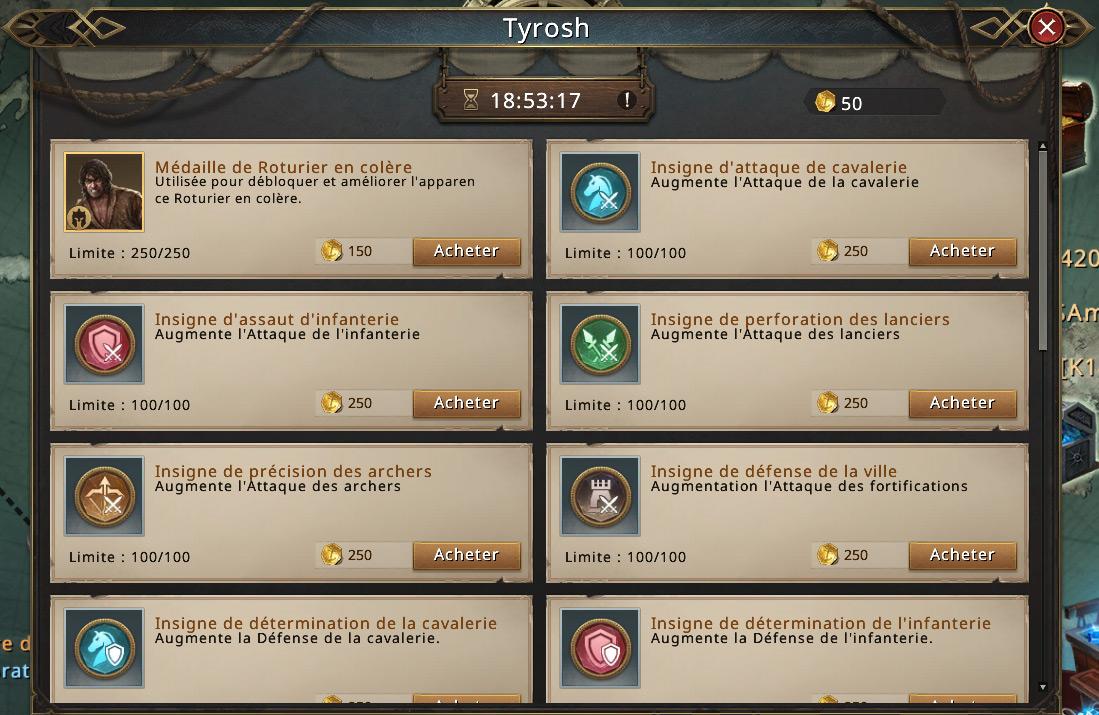 Boutique du marchand Tyrosh