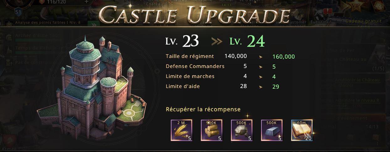 Château niveau 24