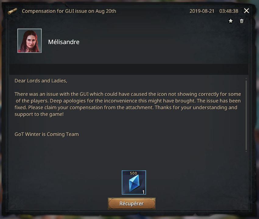 Compensation bug GUI icône ne s'affichait pas