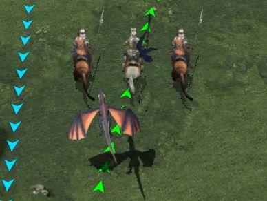 Dragon qui accompagne les troupes