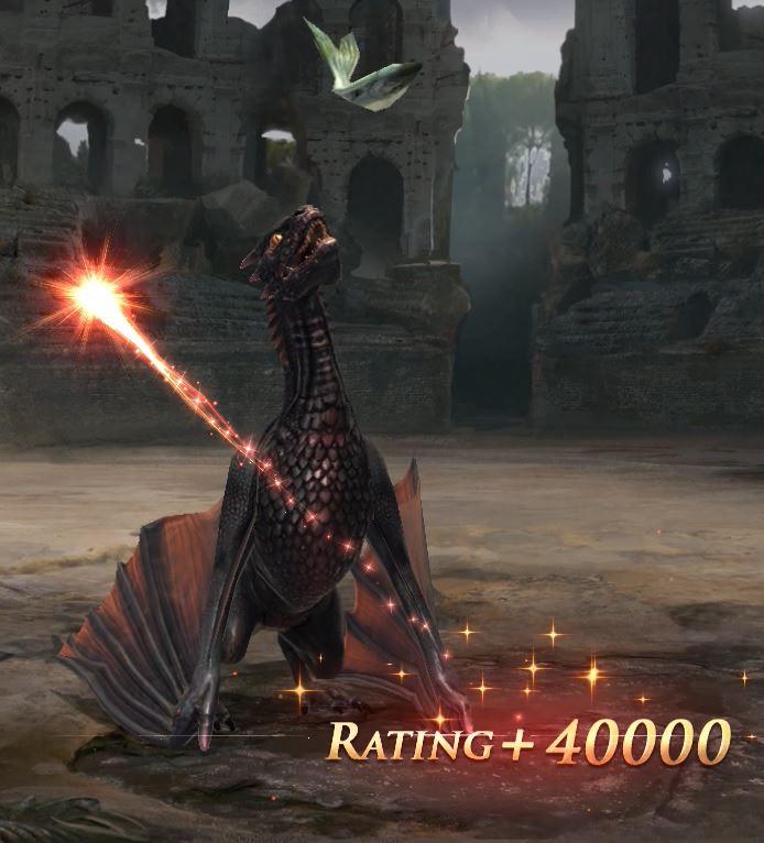 Nourrissage du dragon adulte