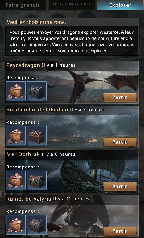 Explorations du dragon