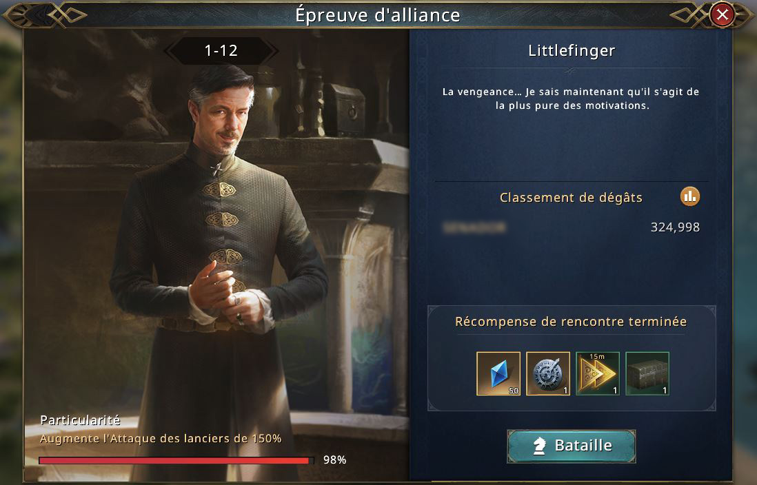 Epreuve d'alliance - Littlefinger